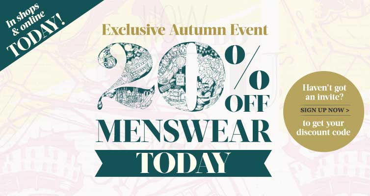 20% off Menswear event